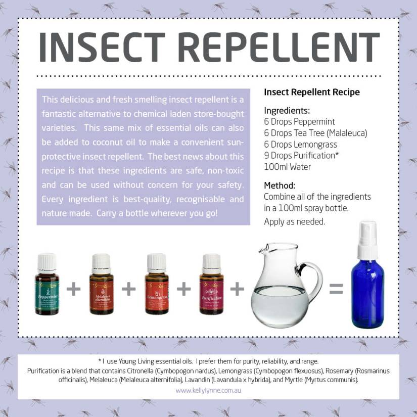 Insect repellent poster