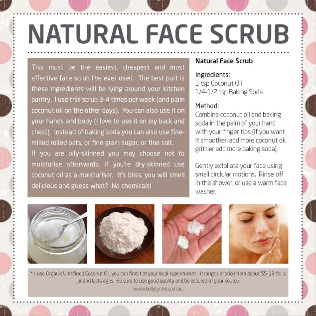 Natural face Scrub poster